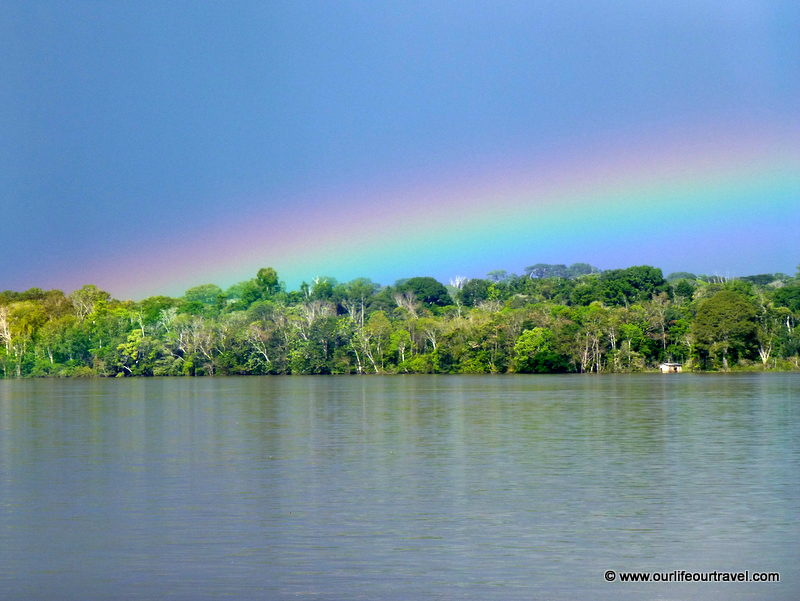 Rainbow over Amazon. Tabatinga - Manaus boat ride