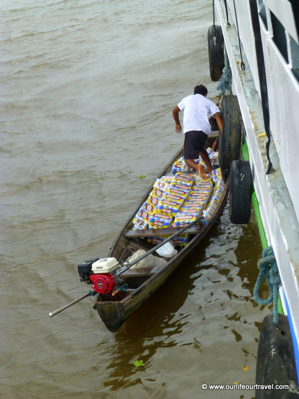 How many crates of beer can you fit into your little boat? Tabatinga - Manaus boat ride