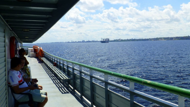 Departure from Manaus. Tabatinga - Manaus boat ride
