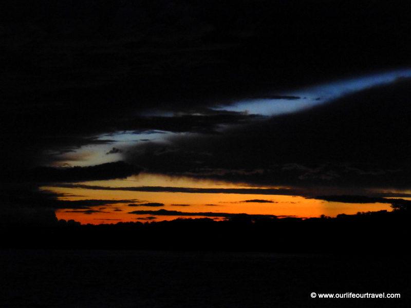 Sunset. Tabatinga - Manaus boat ride
