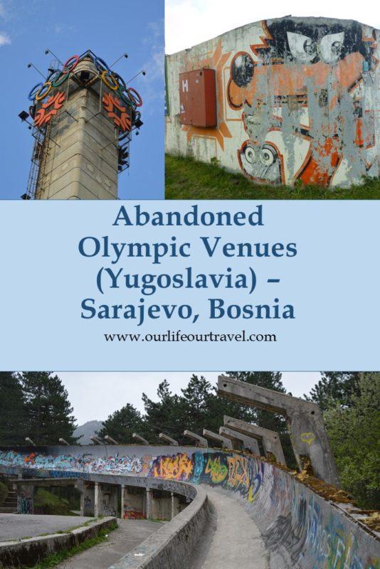 Abandoned Olympic Places Around Sarajevo, Bosnia Herzegovina.