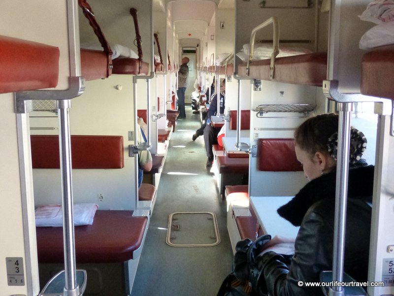 Third class train, Trans-Siberian train