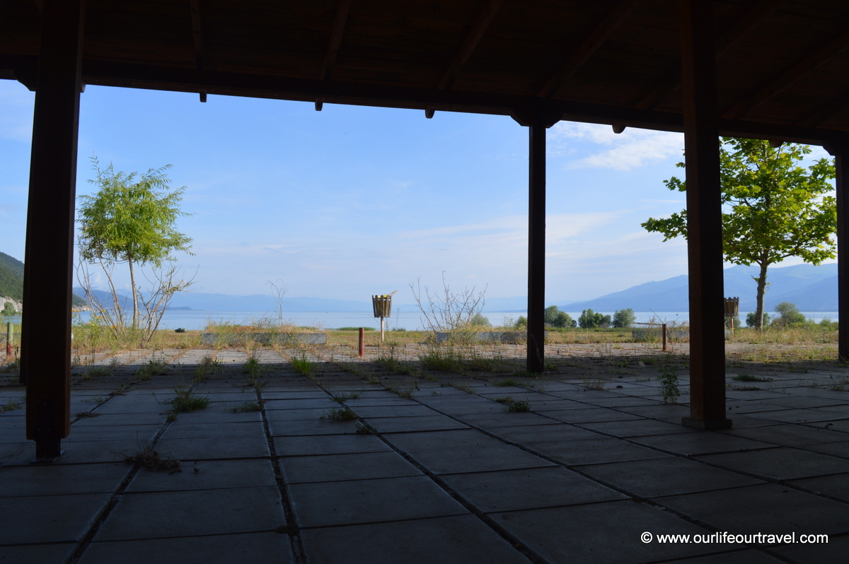 Abandoned restaurant at Prespa Lake