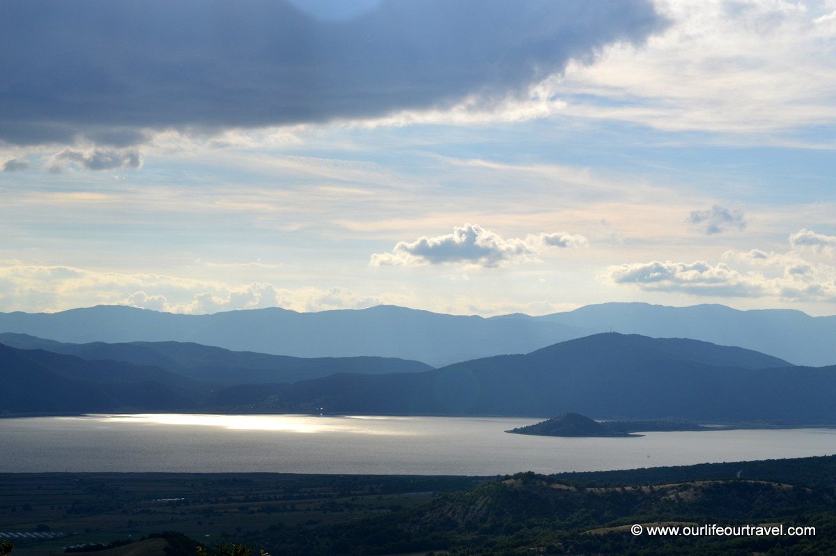The view to Lake Ohrid