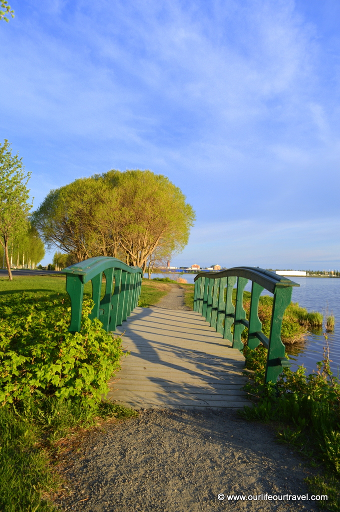 Walking path with the view to Sweden