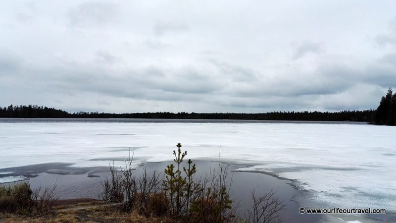 One of many frozen lakes