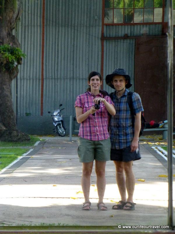 Despite being sick, we don't look so terrible. Belém, Amazonia, Brazil