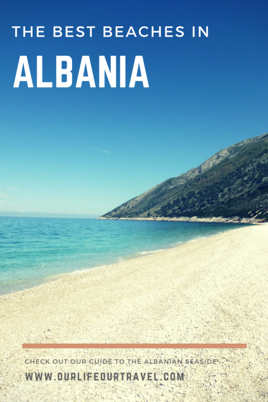 Exploring the best beaches in Albania. The water is crystal clear, the Mediterranean coastline is stunning.