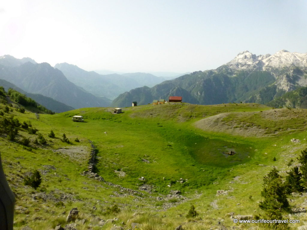Gorgeous view of the Albanian Alps near Theth