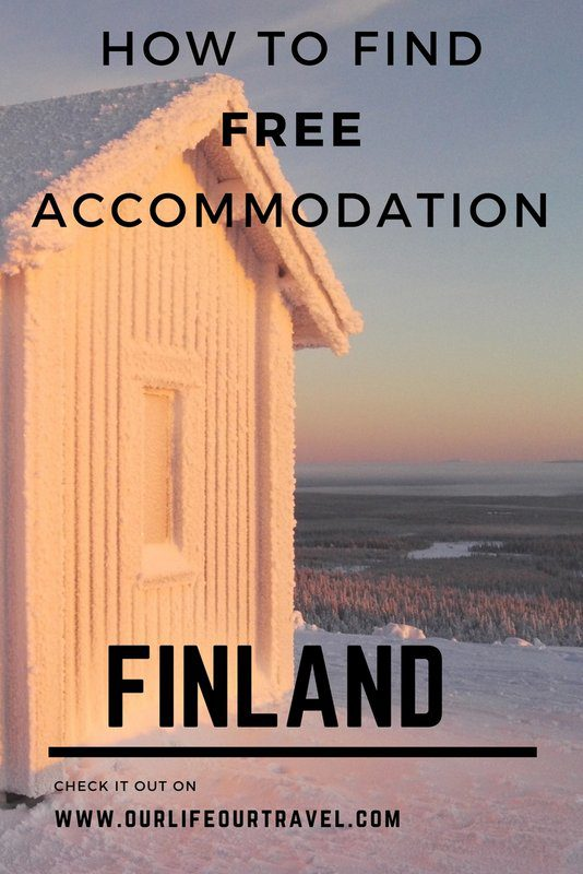 How to search for free accommodation in Finland? Wilderness accommodation options.