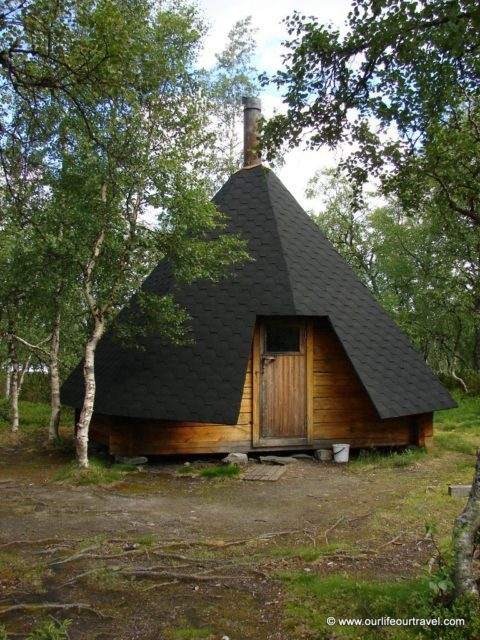 A closed Lapp hut from outside, Finland