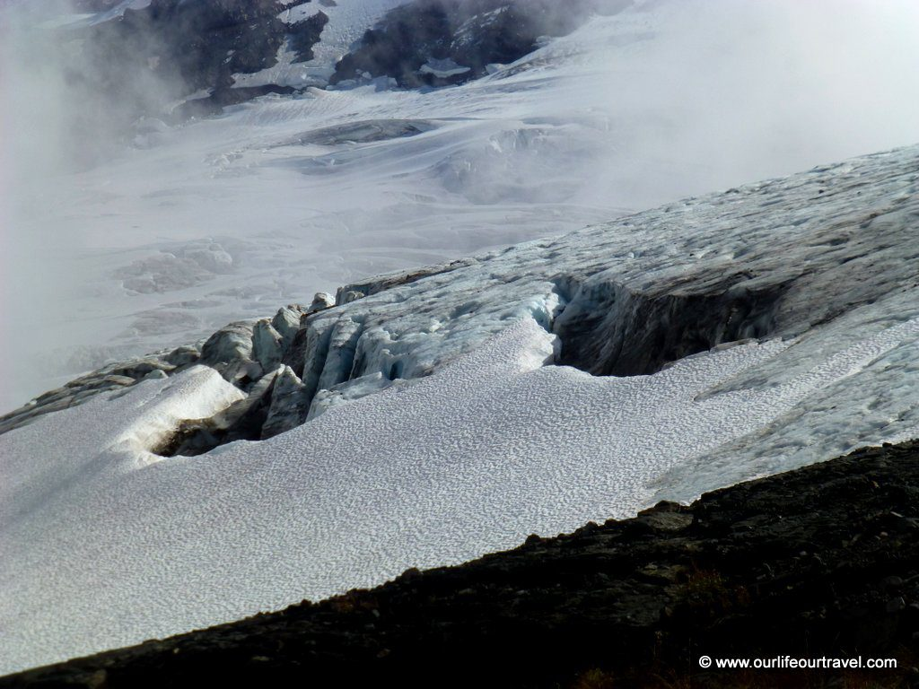Holes in the Glacier at the Heliotrope Ridge