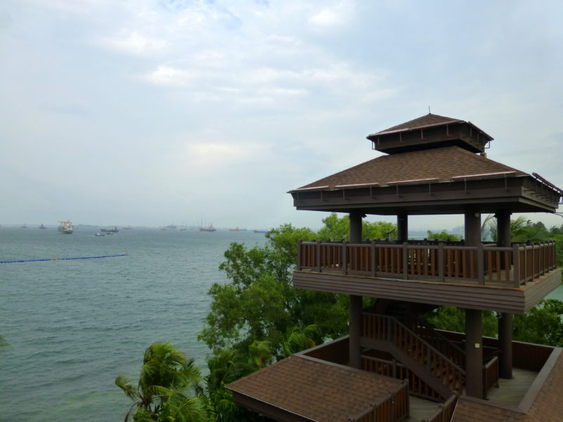 The lookout tower on Sentosa