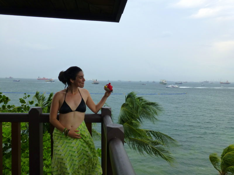 At the southernmost point of Asia and Singapore (Sentosa Island)