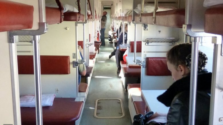 Third class train, Trans-Siberian train