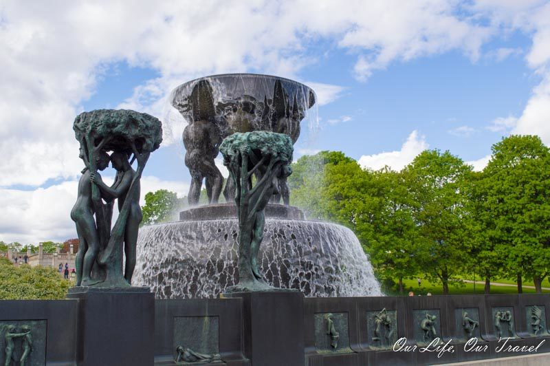 Fountain at Vigeland Park Norway