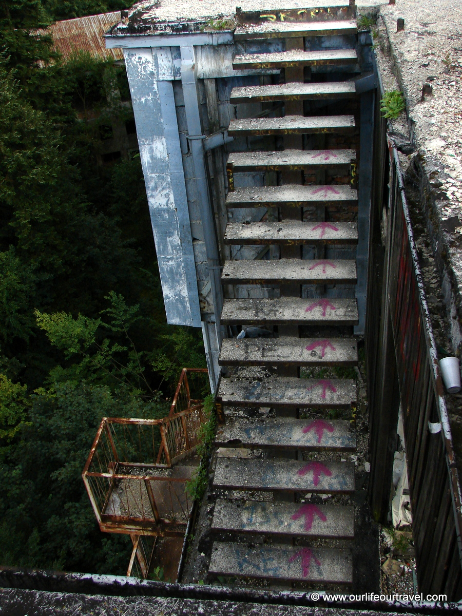 The scary stairs