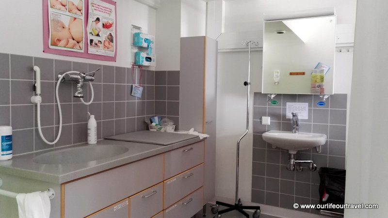 Changing place in our room - Rovaniemi hospital