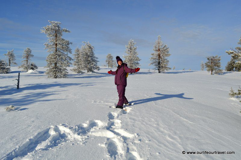 Hiking in Lapland while being pregnant