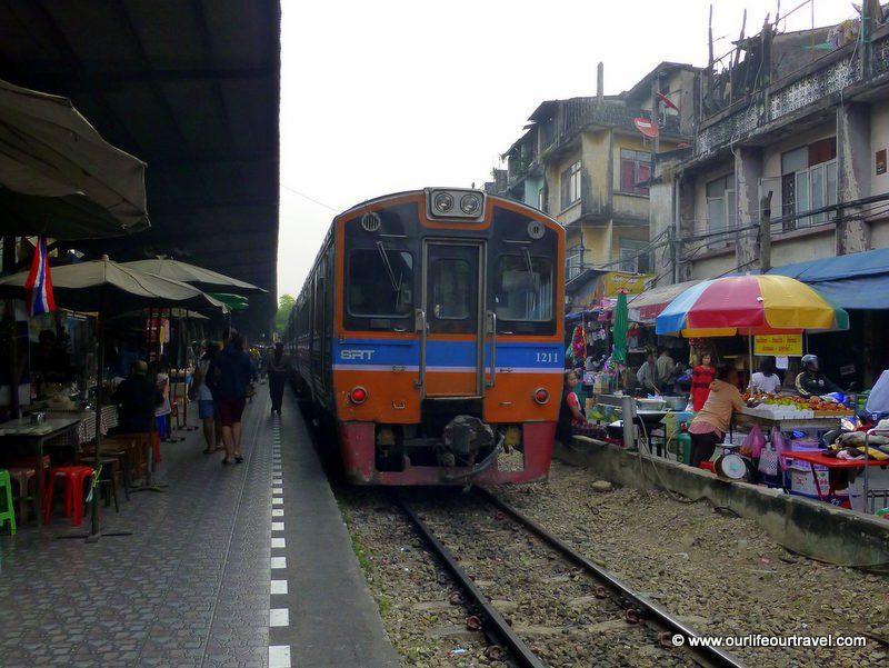 On the way to Maeklong Train Market - Bangkok, Train Market Thailand