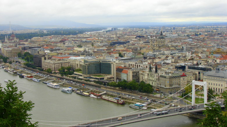 Low-rise in downtown of Budapest
