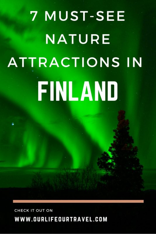 Nature attractions in Finland: northen lights (Aurora Borealis)