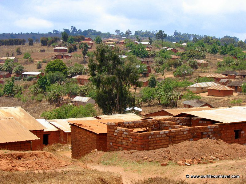 One of the villages we visited