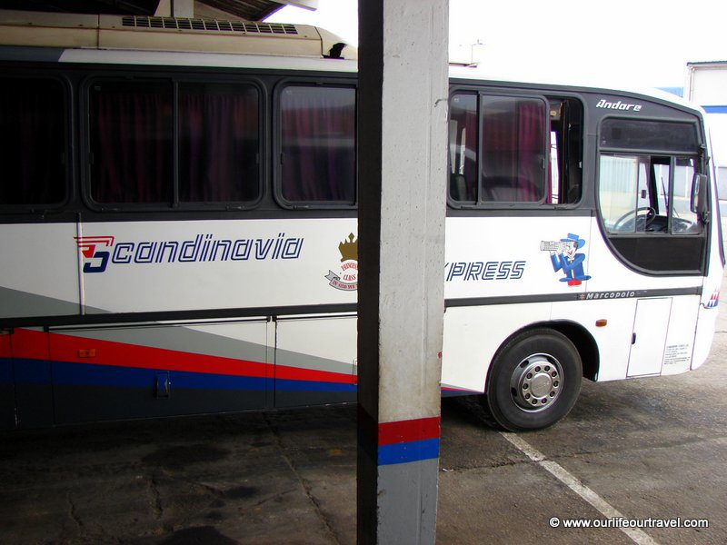 Scandinavian Express in Africa. The bus with stewardess serving snacks and refreshments :)