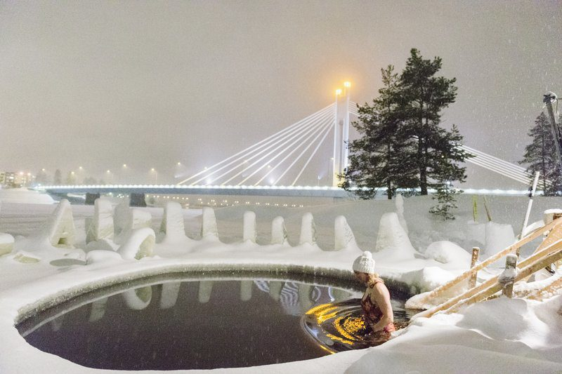 Ice Swimming in Rovaniemi
