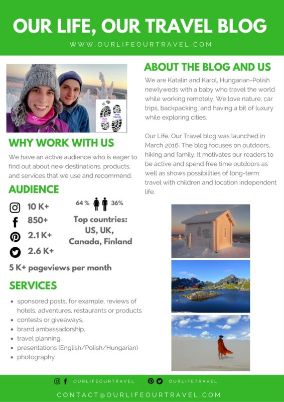 Media Kit - Work with Us @ Our Life, Our, Travel