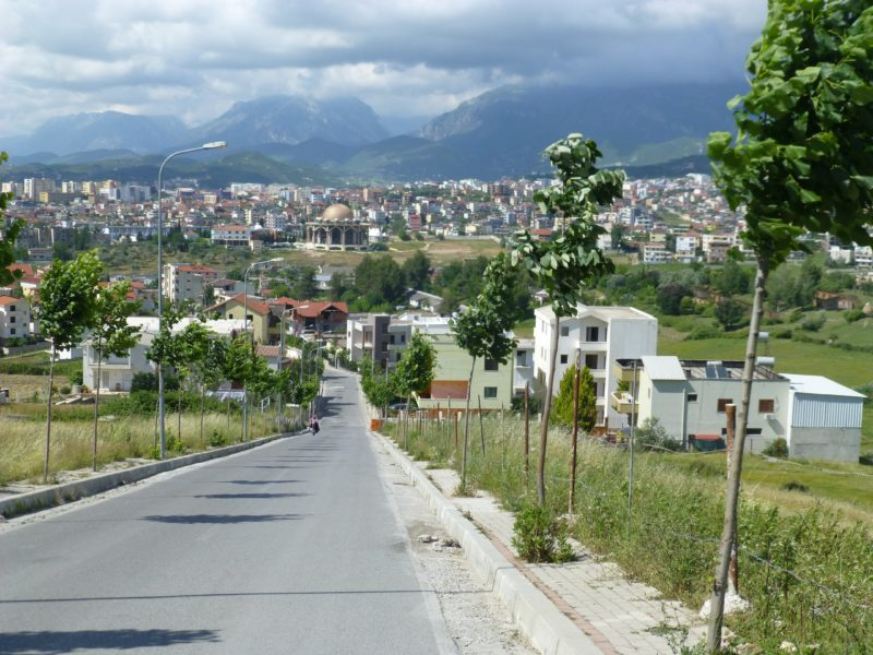 Tirana, Albania. View to the city from the outskirts.