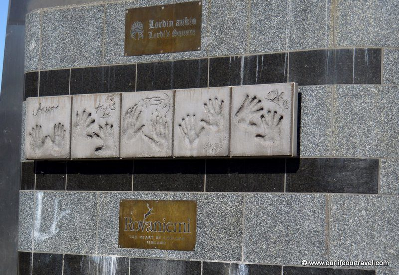 Hand prints of the band at Lordi Square Rovaniemi, Finland