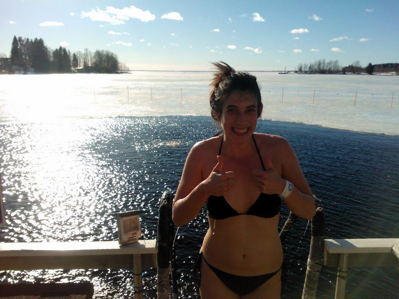 Ice swimming in Joensuu - a must-try Finnish specialty
