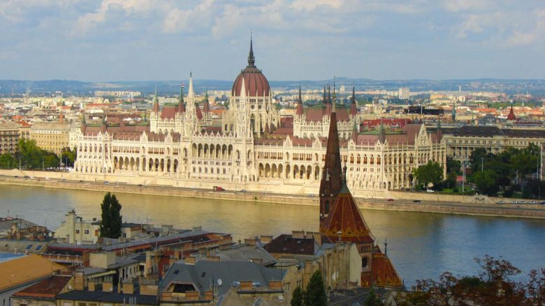Budapest and the Parliament on the shore of Danube