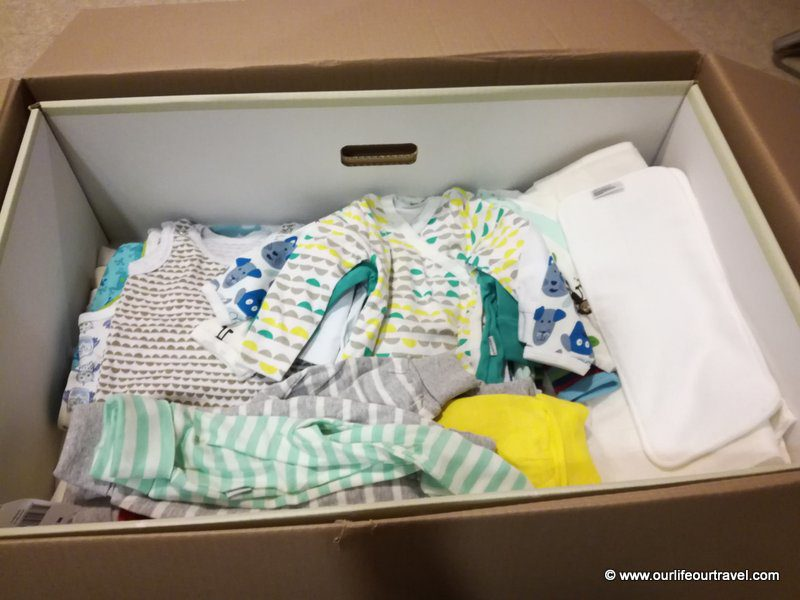 The content of the Finnish baby box
