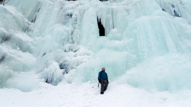 Frozen Waterfall at the Korouoma National Park