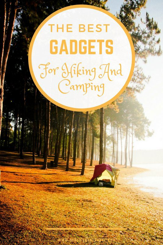 The best gadgets for hiking and camping in 2018. Perfect gifts for outdoors lovers. #hiking #gadgets #best Electronic items, cooking accessories and utensils or just basic navigation items? Using these items will make your trek more enjoyable and easier. Buy them now!
