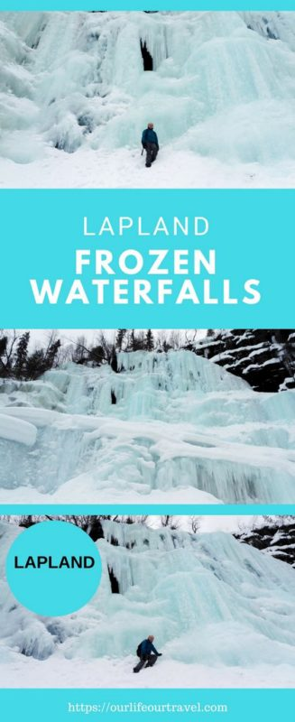 Korouoma Canyon and hike to the Frozen Waterfalls in Lapland. Day trip from Rovaniemi Finland to the Korouoma Korouoma Nature Reserve #finland #lapland #korouoma #daytrip #rovaniemi
