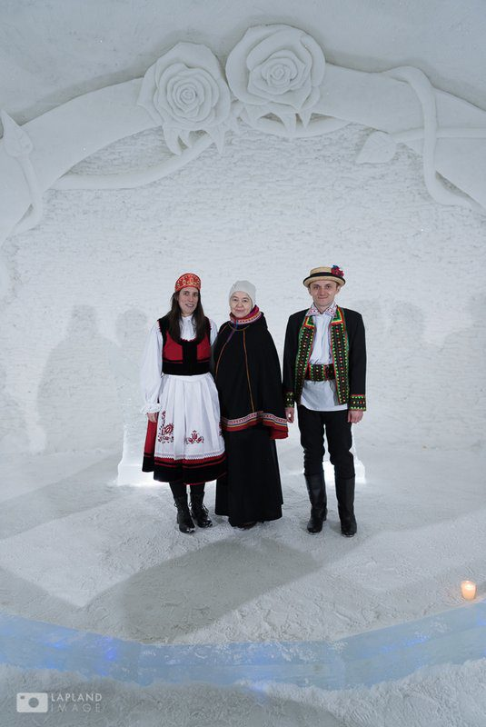 With the clerk at the wedding in the ice church