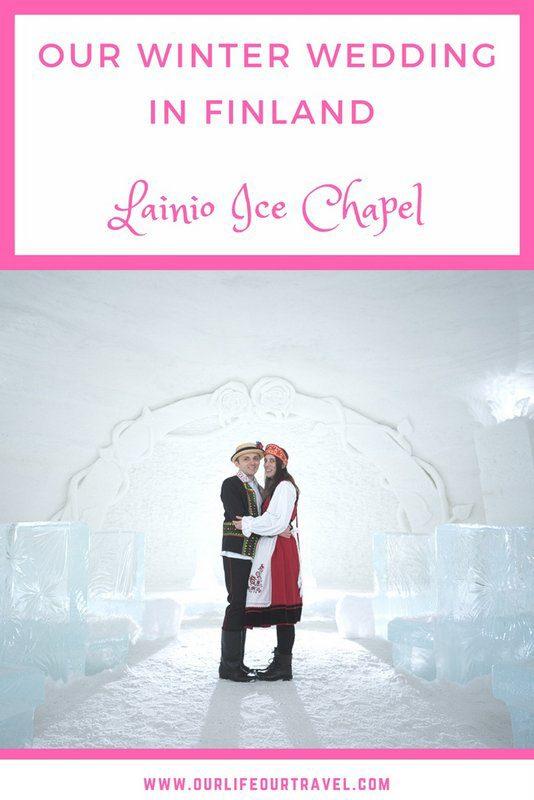 We had our dream wedding in this frosty ice church in Lapland | Wedding in Winter Wonderland - Lainio Snow Village and Ice Chapel. Getting married in Finland as a foreigner. #finland #wedding #snowhotel #icechapel #luxury