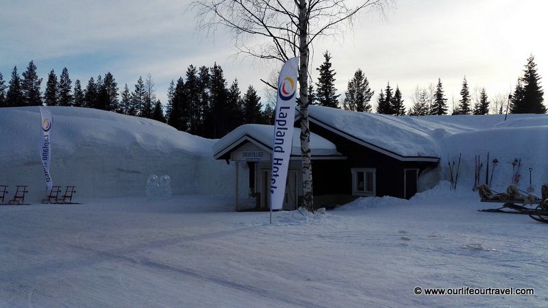 From outside - Lainio Snow Castle