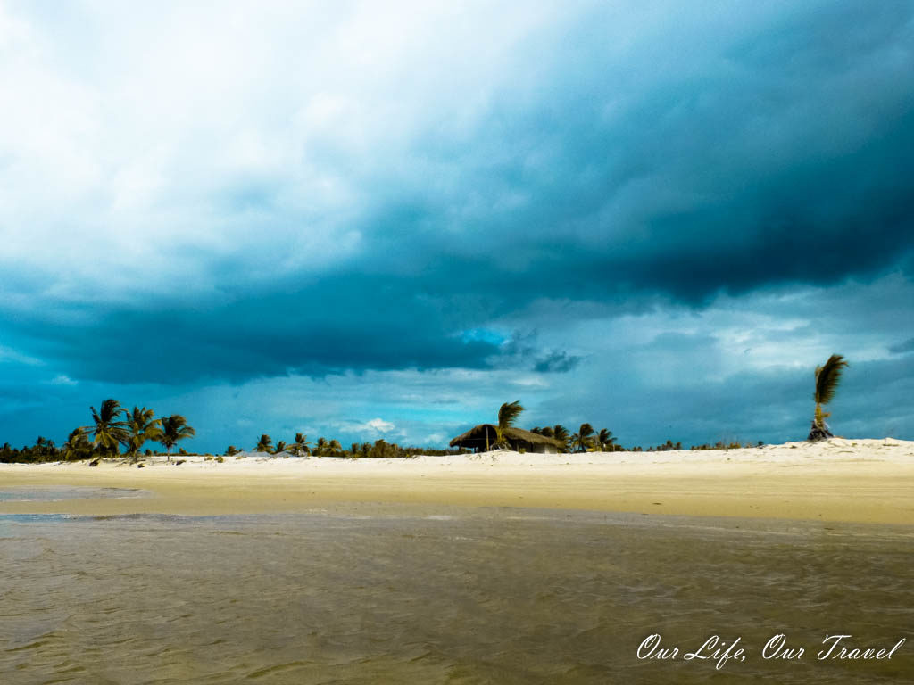Storm is approaching the Atlantic shore of Brazil - Atins