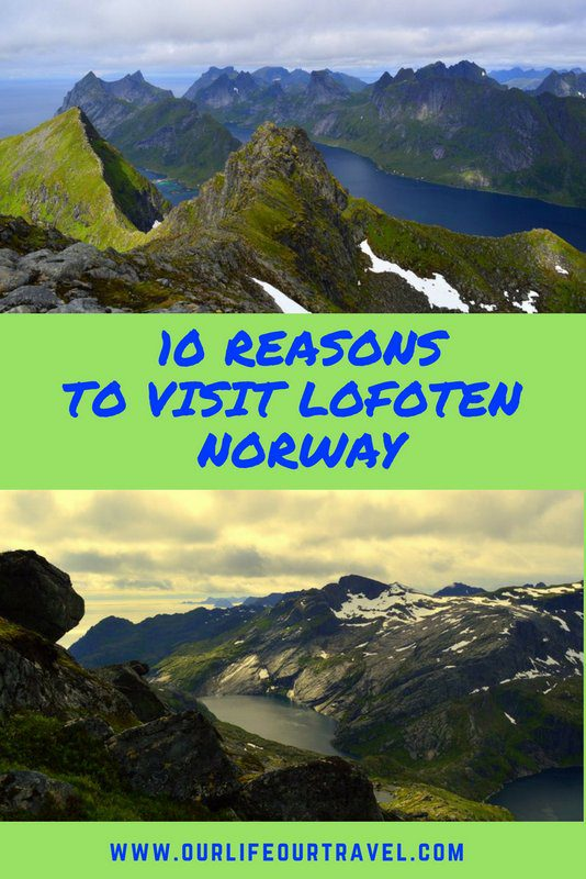 Check out the best place in Norway! The fjords and mountains give a stunning background to all your Lofoten pictures. Add to your bucket list, NOW! #lofoten #norway #mustsee #bucketlist #summer #hike #photos