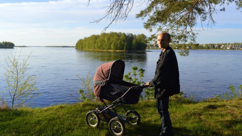 Weekend trip with a baby at Tornio, Lapland, Finland
