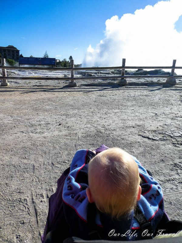 Rotorua Geysers and our toddler