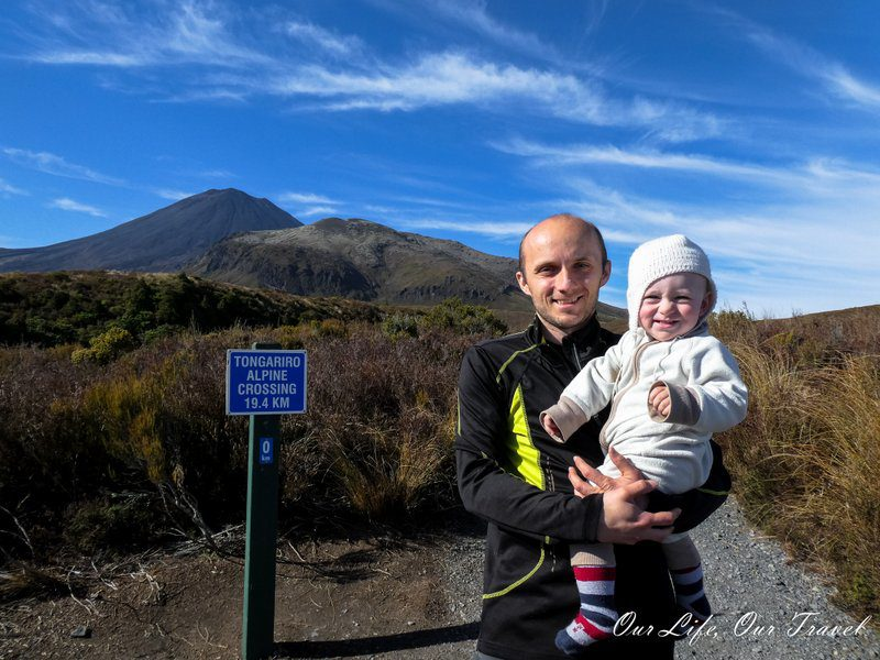 The boys at the start of Tongariro crossing