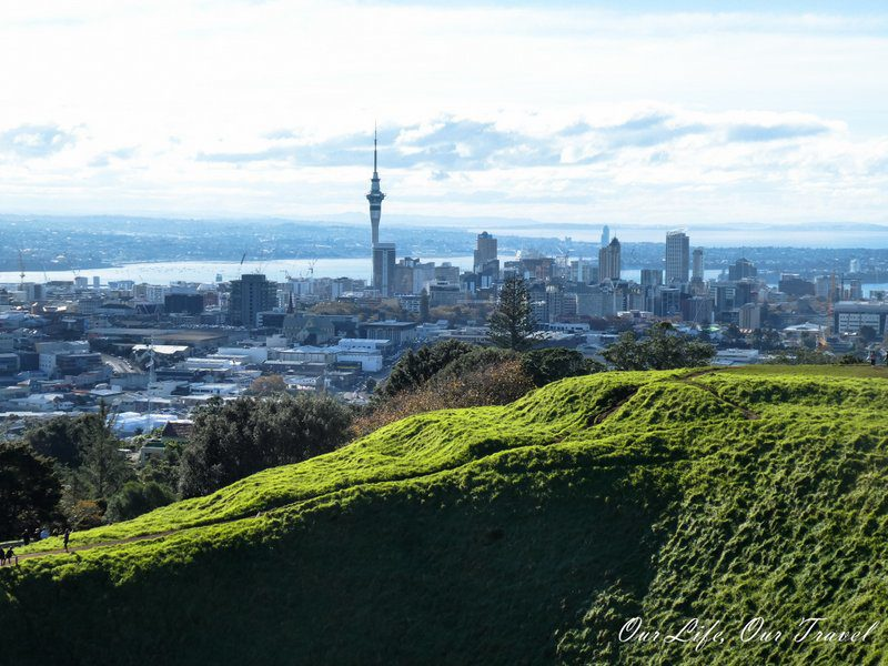 Auckland from a volcano | New Zealand