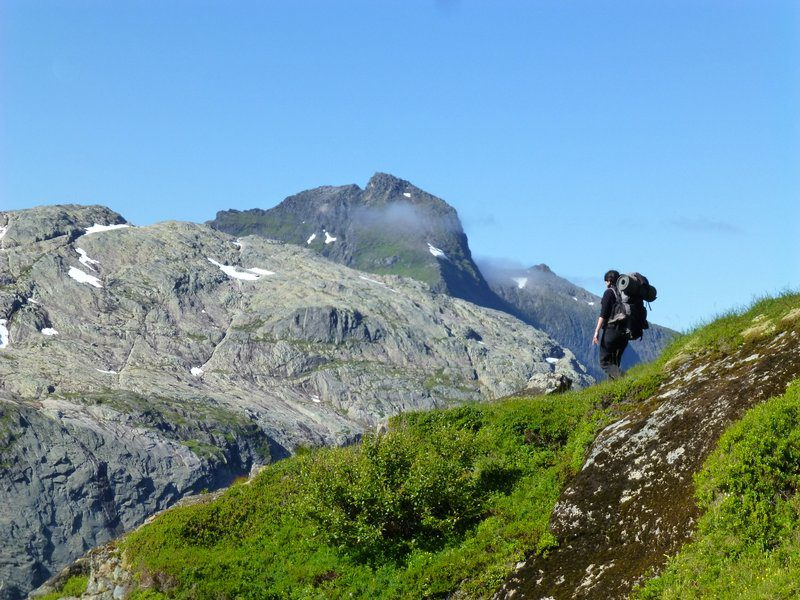 Hiking the ridges in Northern Norway.