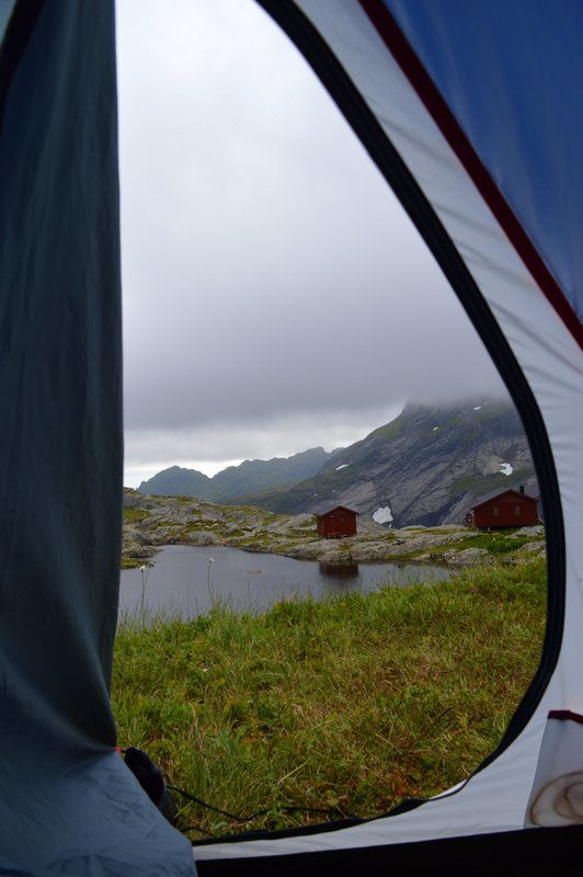Tenting around A, Norway.