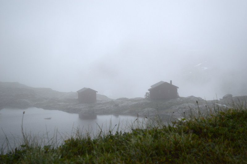 Fog and hiking around A, Norway.